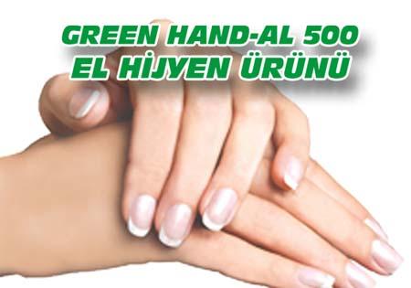 GREEN HAND-AL 500  (El Hijyen Ürünü)